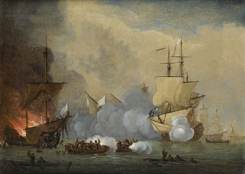 An Action Between an English Ship and Barbary Pirates