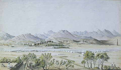 The City of Ghazni from the hills east of the city